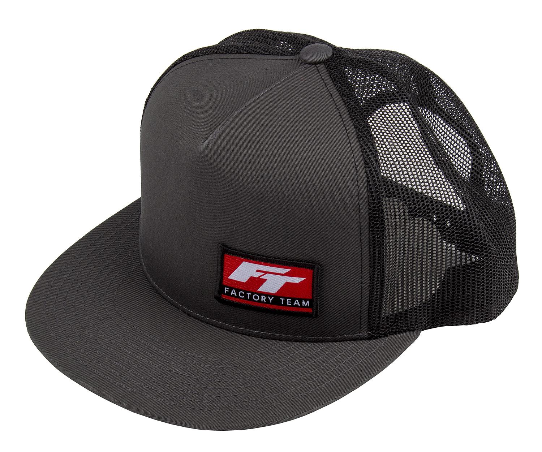Factory Team Logo Trucker Hat, Flat Bill