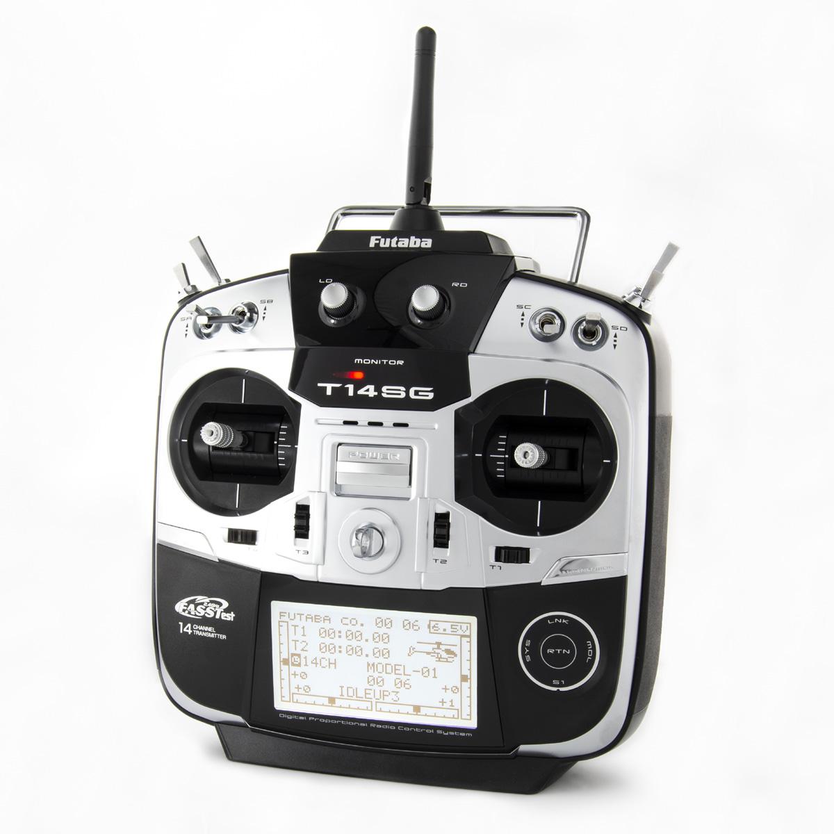 14SG H 2.4GHz FASST Heli Spec Radio System w/R7008SB