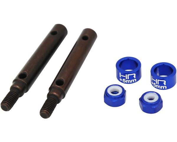 +5mm S2 Spring Steel Portal Drive Stub Axles, TRX-4
