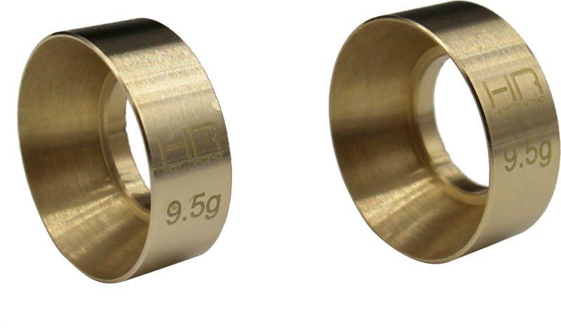 9.5g Brass KMC Machete Wheel Weights, for Axial SCX24
