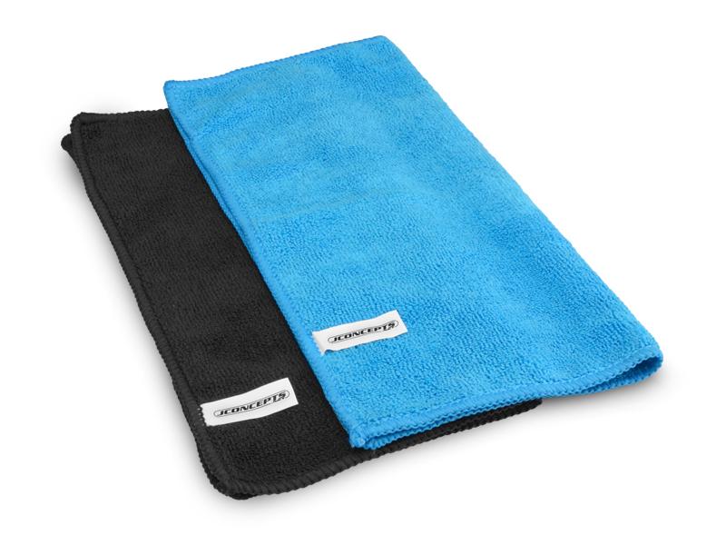 Microfiber Towel Blue/Black 2pc