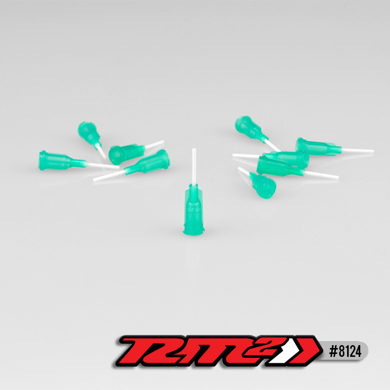 Glue Tip Needles, Medium Bore Gree, (10pcs)