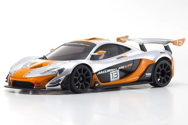 MINI-Z McLaren P1 GTR Silver/Orange MR-03 RWD RTR