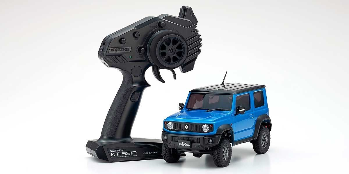 Mini-Z Suzuki Jimny Sierra Brisk Blue Metallic Ready Set