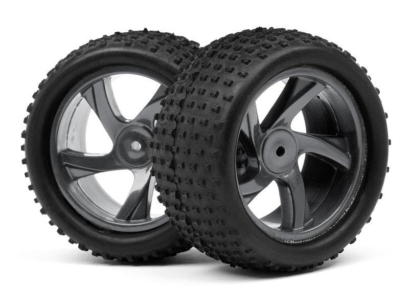 1/18 Truggy Wheel & Tire Assembly, Ion XT