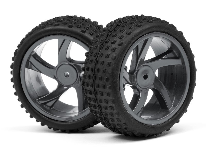 1/18 BUGGY WHEEL & TYRE ASSEMBLY (ION XB)