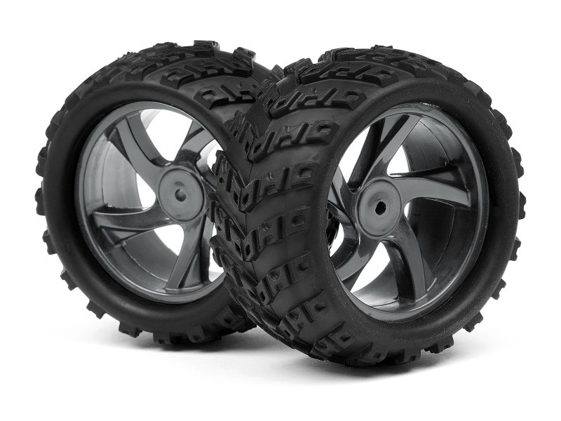 1/18 MONSTER TRUCK WHEEL & TYRE ASSEMBLY (ION MT)