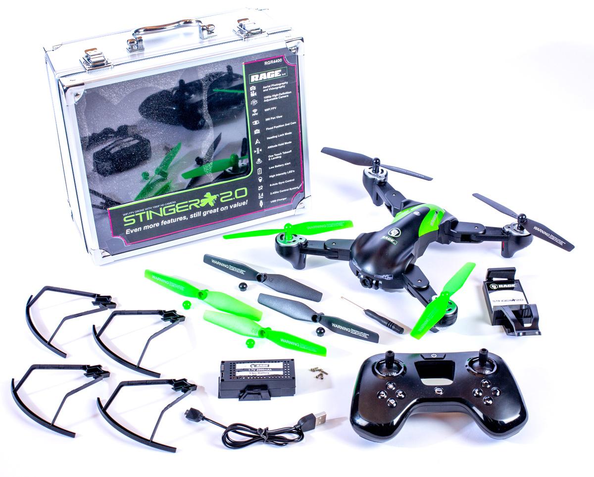 Stinger 2.0 RTF WiFi FPV Drone w/1080p HD Camera
