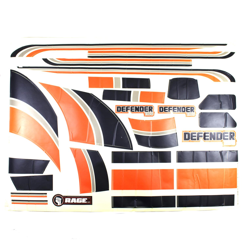 Complete Decal Set; Defender 1100