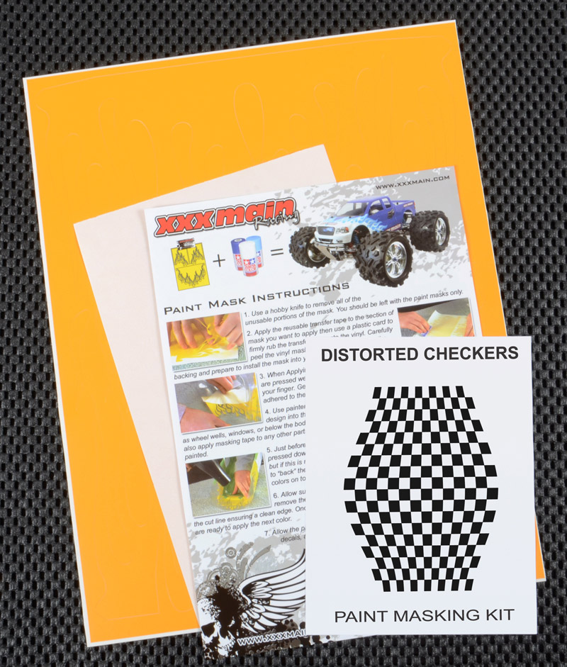 Distorted Checkers Paint Mask