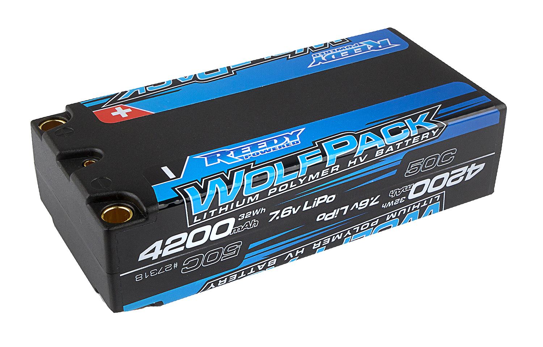 Wolfpack HV-LiPo 4200mAh 50C 7.6V, Shorty