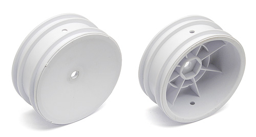 2WD Front Wheels, 2.2 in, 12 mm Hex, White