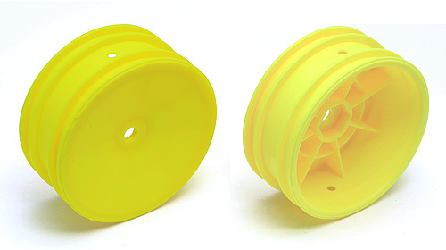 2WD Front Sheels, 2.2in, 12mm Hex, Yellow