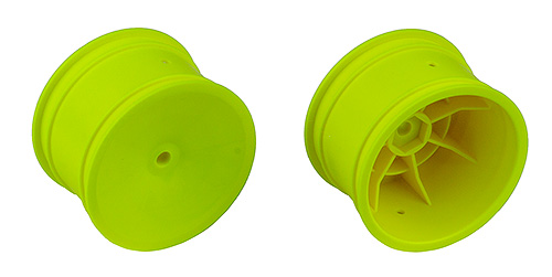 2WD/4WD Rear Wheels, 2.2 in, 12 mm Hex, Yellow