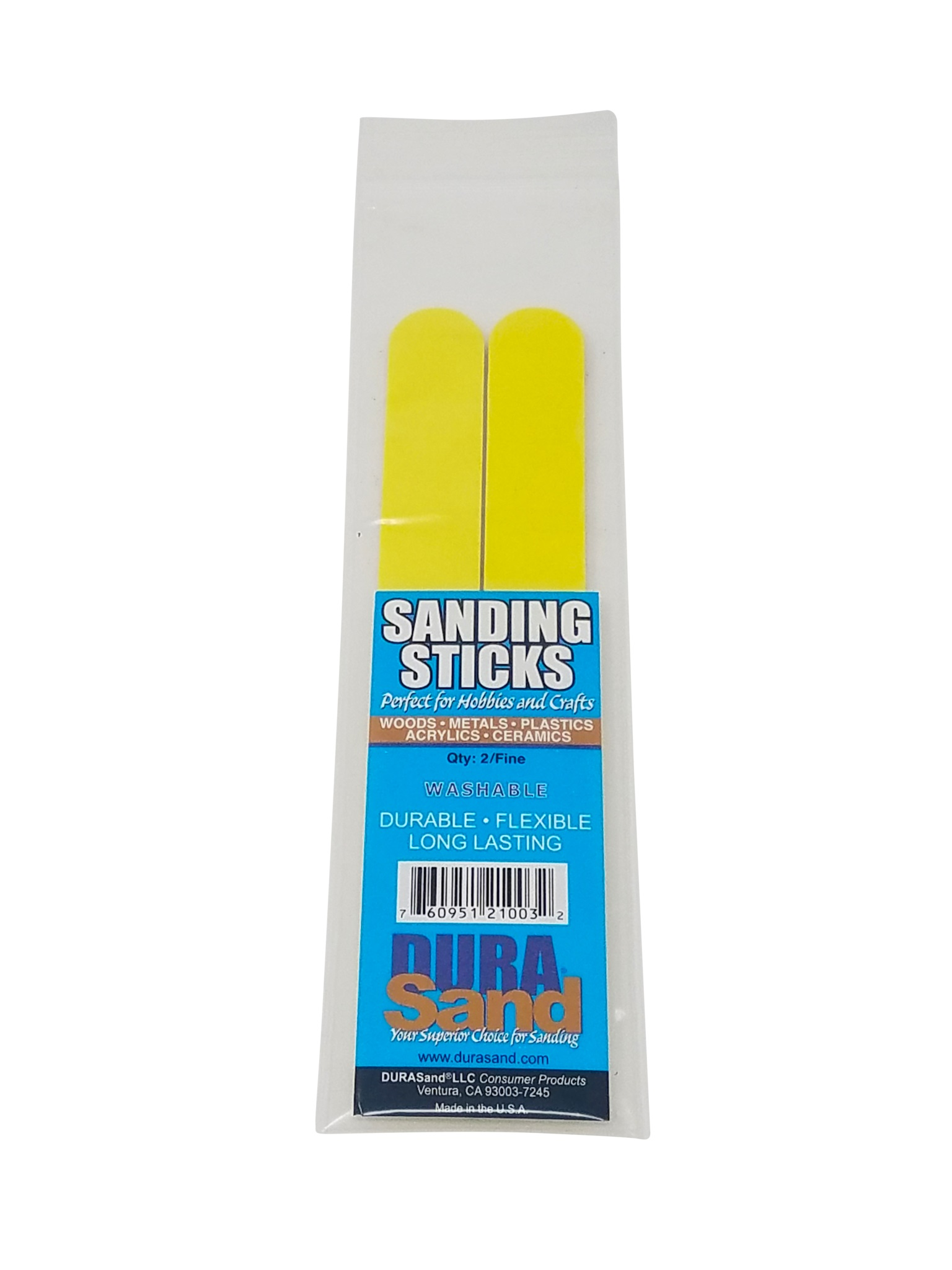 Sanding Sticks, 2 Pieces Bagged, 240/240 Yellow