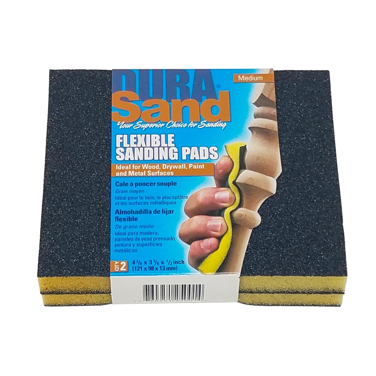 2-Sided Black Sanding Pads, 2pcs, Medium - 100 Grit